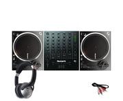 Numark NTX1000 DJ Turntables with M6 USB Mixer & Headphones