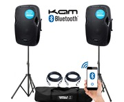 Kam RZ12A V3 Bluetooth (Pair) with Stands and Cables