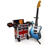 Gorilla Musician Tech Trolley Gig Case with Wheels & Handle (Union Jack)