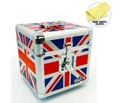 "Gorilla LP100 12"" LP Vinyl Record Storage Box Union Jack"