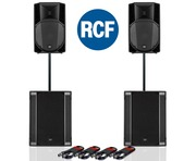 RCF Art 715-A MK4 PA Speaker (x2) & RCF Sub 708-AS II (x2)