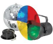 QTX Light Disco Light Set 20cm Mirror Ball Kit 3