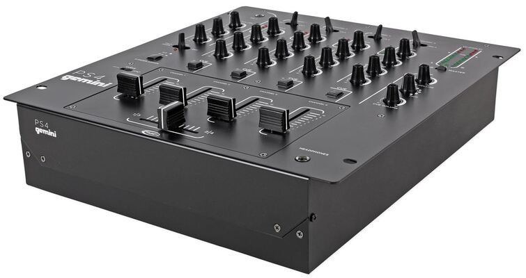 Mixer Gemini PS4 Professional 12. 5, 4-channel Stereo DJ Mixer