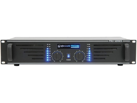 QTX Sound PRO240 Power Amplifier Black