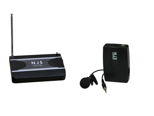 NJS VHF Wireless Tie Clip Microphone System