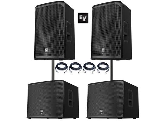 2x electro voice ekx 15p speakers 2x ekx 18sp subwoofers. Black Bedroom Furniture Sets. Home Design Ideas
